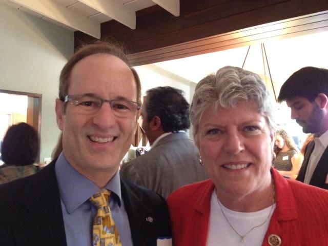 Dr. Mark Zakowski with Congresswoman Brownley